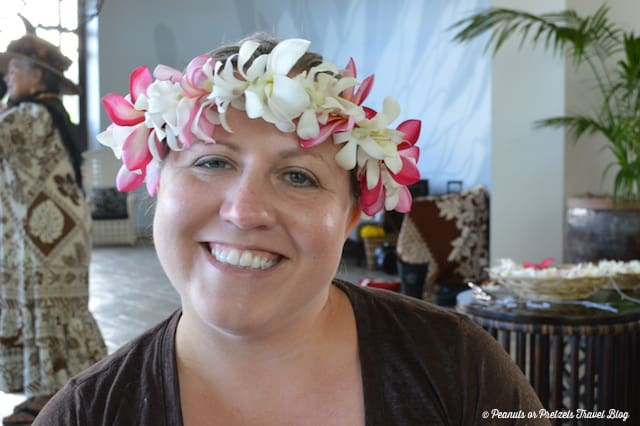 My homemade lei in Hawaii!