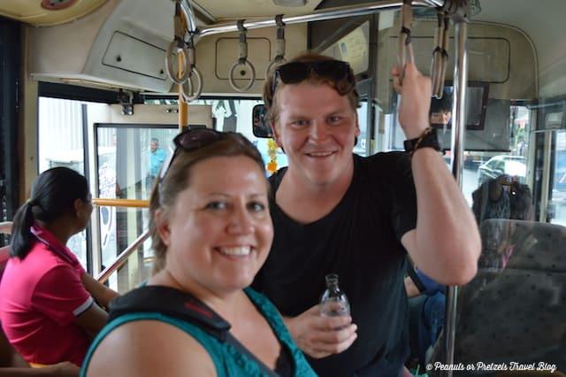 bankgok buses, ride the bus in bangkok, bangkok public transportation, getting around bangkok