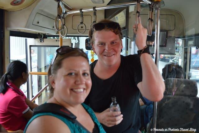 josh & Liz on bus
