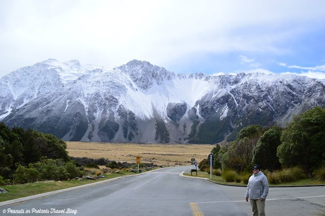 It was snowing on us up at Mt. Cook, New Zealand!