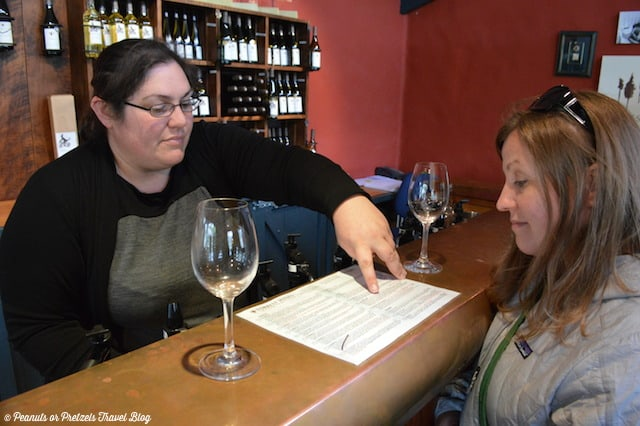 """Browsing the extensive list at Forrest Winery - including """"The Doctor's"""" unique concoctions!"""