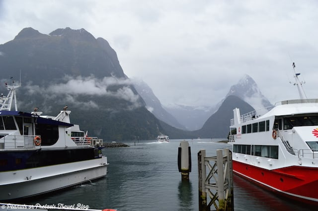Boats in Milford Sound