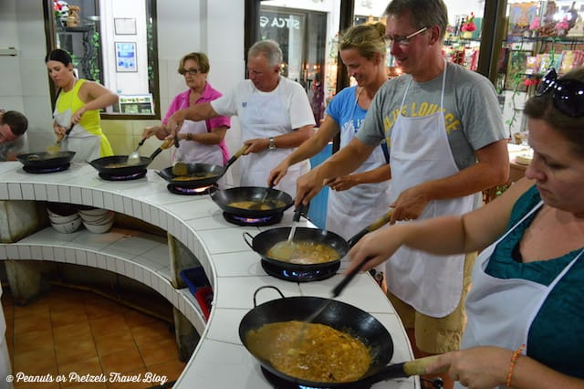 Mastering our Thai curry cooking skills at SITCA on Koh Samui