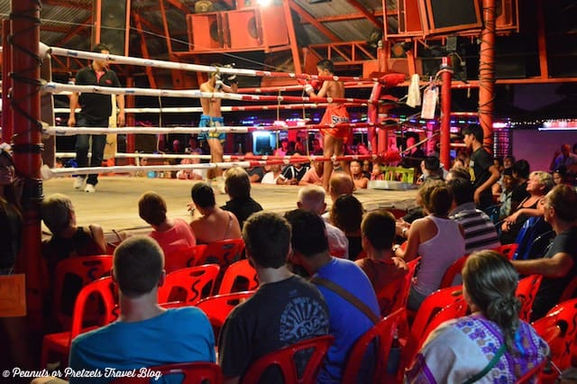 Free Muay Thai Boxing match each Saturday Night in Lamai on Koh Samui, Thailand