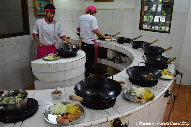 Cooking Station - Thai Cooking Class - Peanuts or Pretzels, thai cooking class, learning to cook thai food, koh samui thailand