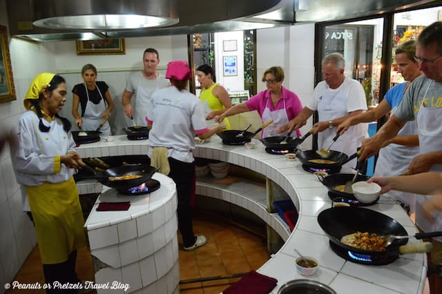 Curry station - Thai Cooking Class - Peanuts or Pretzels, learning to cook thai food, thai cooking school, koh samui thailand