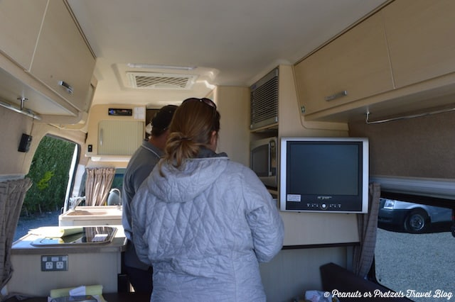 Going over inside of RV - New Zealand RV Rental - Peanuts or Pretzels