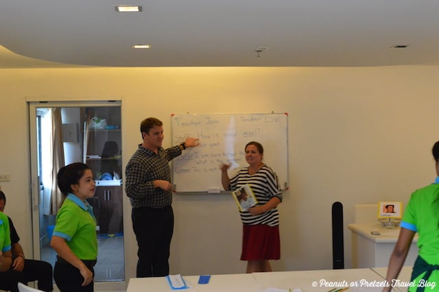 Josh & Liz Teaching TEFL - Peanuts or Pretzels
