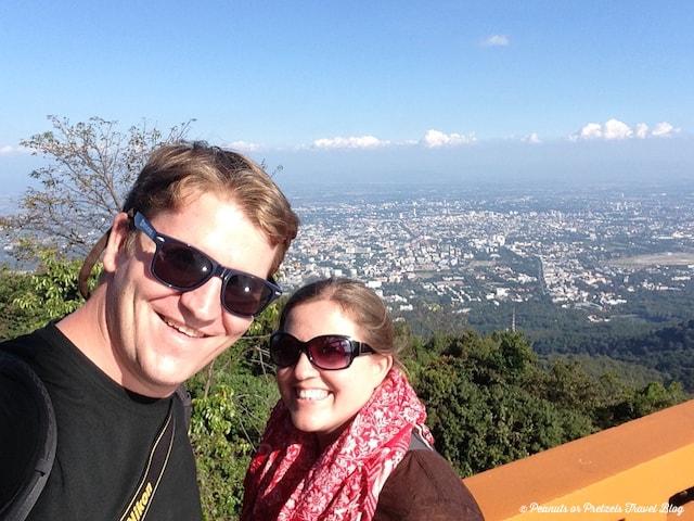 Josh & Liz above Chiang Mai
