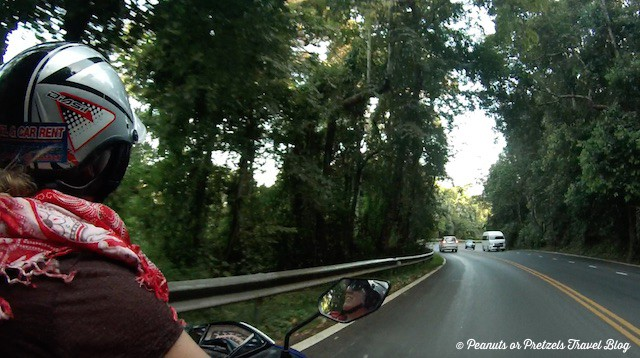Enjoying a drive on the motorbike!