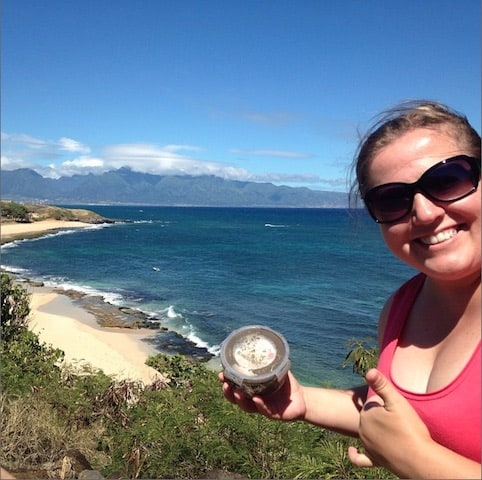 Our first Geocache Find on Maui, Hawaii - Peanuts or Pretzels Instagram