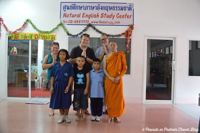 english students in bangkok, temple school thailand, monk in thailand, interview with monk