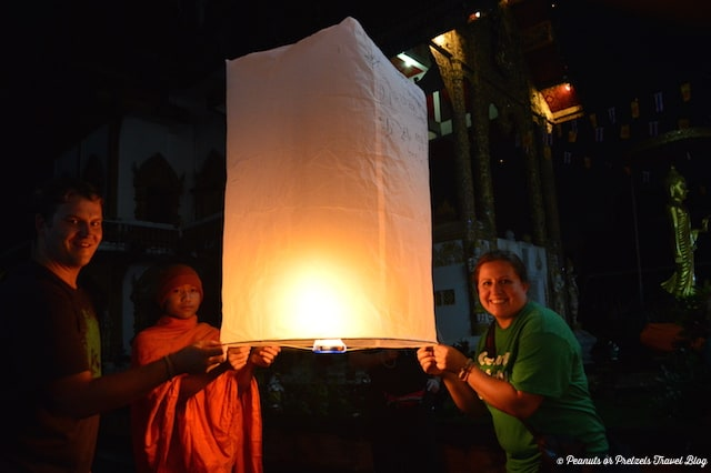 Ready to launch our Khom Loi and make our wishes for the new year!