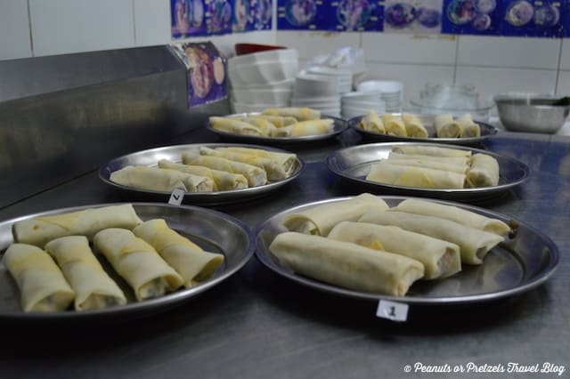 Spring Rolls 3 - Thai Cooking Class - Peanuts or Pretzels, thai cooking school, learn to cook thai food, koh samui thailand