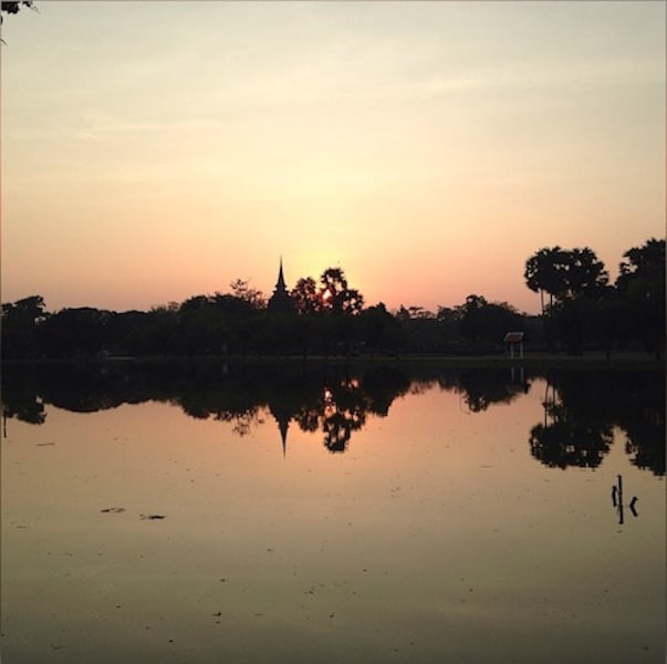 Sunrise over Sukhothai, Thailand - Peanuts or Pretzels Instagram