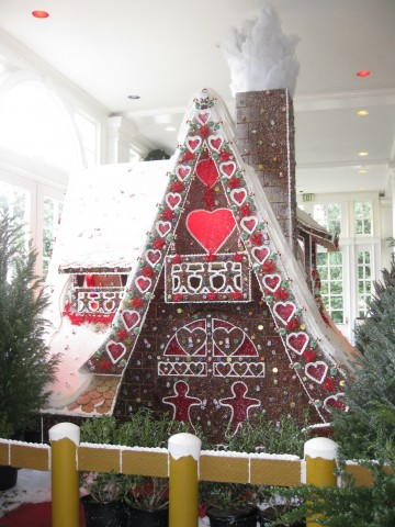 The homemade gingerbread house at the Grand Floridian Resort - Christmas at Disney!