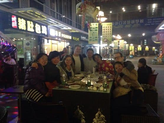 Christmas Eve dinner in Guaungzhou, China