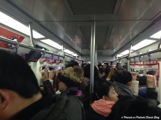 Riding in a Beijing Subway - Peanuts or Pretzels