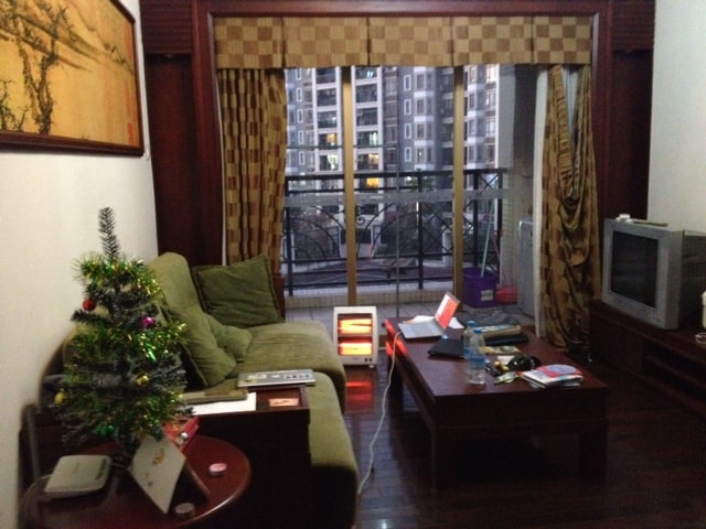 Christmas in our Guangzhou apartment!