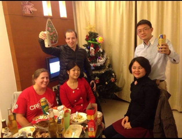 Christmas dinner in China