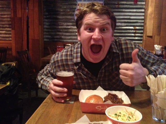 We found a southern BBQ restaurant in Hong Kong & it made Josh feel right at home!