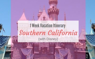 Travel Itinerary: 1 Week Southern California (With Disney)