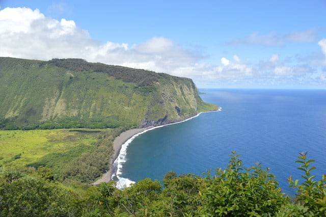 The view of Waipo Valley, Big Island of Hawaii