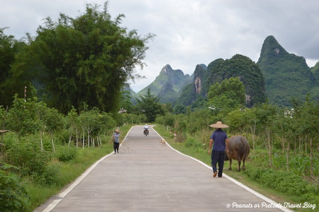 Getting lost on the motorbike in the countryside near Yangshuo, China!