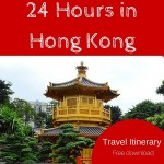 Travel Itinerary:  24 Hours in Hong Kong