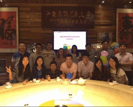 My students - the international sales and marketing team at a global car manufacturer here in China.