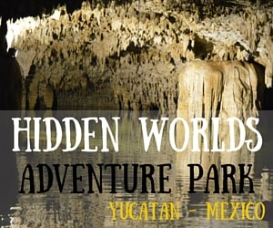 Hidden Worlds Adventure Park in the Riviera Maya, Yucatan Peninsula Mexico