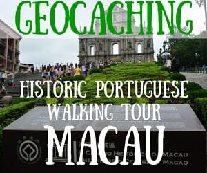 Geocaching the Historic Portuguese Walking Tour in Macau