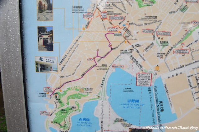 Geocaching Macau Historic Walking Trail Map
