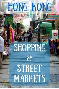 Shopping & Street Markets - Pin