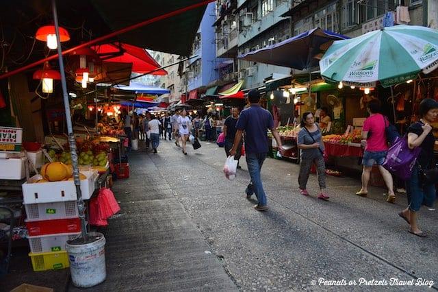 local street market in hong kong