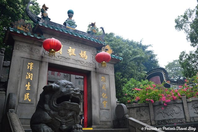 A Ma Temple in Macau is at the heart of the history of the area