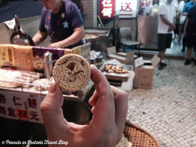 Tasty almond cookies -- check out free samples all over Macau