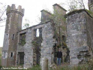 Josh made me pull the rental car over to explore some ruins during our road trip in ireland