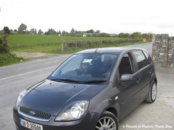 Our Ireland rental car (driving opposite side)