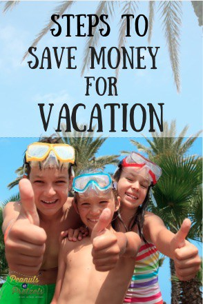happy kids with snorkel masks thumbs up 5 steps to Save Money for Vacation - Pin