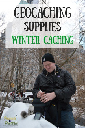 Geocaching Supplies for Winter - Pin