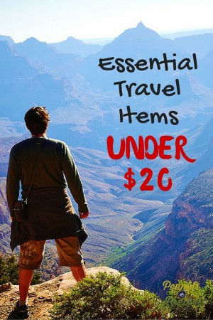 Essential Travel items under 20 - PIN