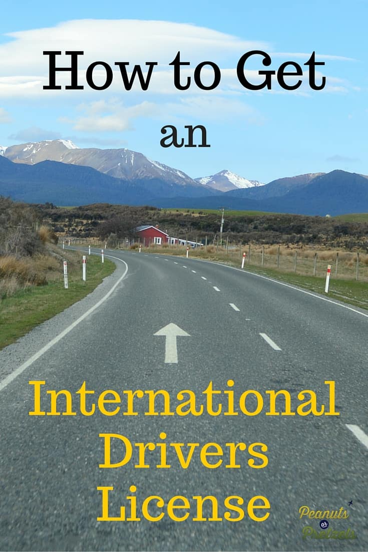 How to get an International Drivers License - Pin