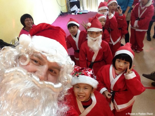 Santa in China - Peanuts or Pretzels