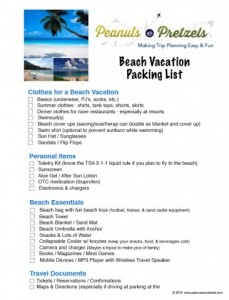 Beach Vacation Packing Checklist Image
