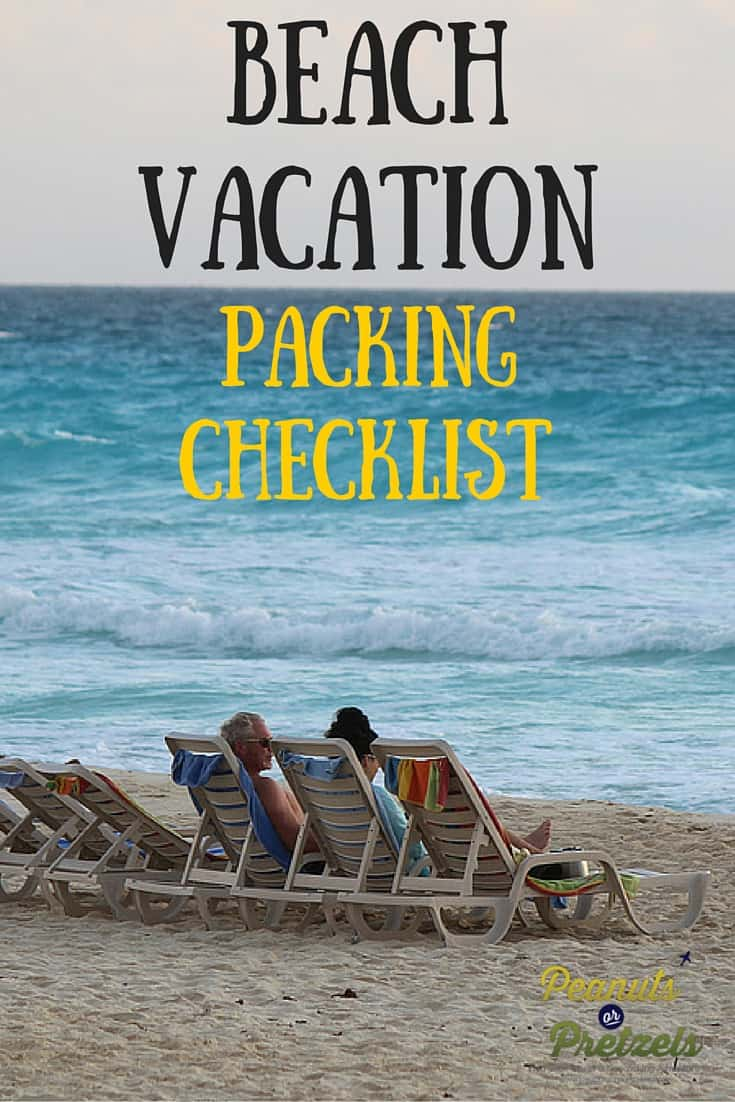 Beach Vacation Packing Checklist - Pin