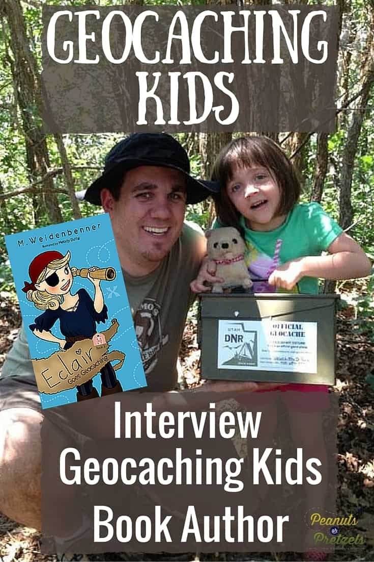 Geocaching kids book interview - Pin