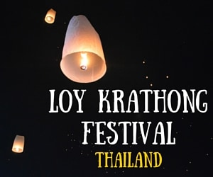 Lanterns Everywhere at the Loy Krathong Lantern Festival in Thailand!