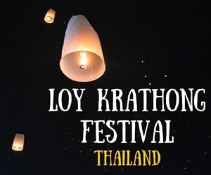 Lanterns Everywhere at the Loy Krathong Lantern Festival in Thailand!