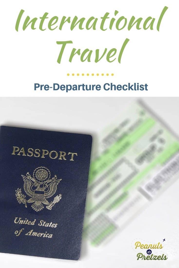 FREE International Travel Checklist